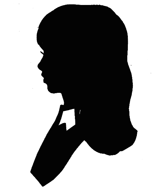 Victorian Bust Silhouette